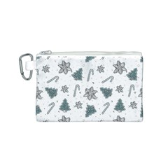 Ginger Cookies Christmas Pattern Canvas Cosmetic Bag (s)