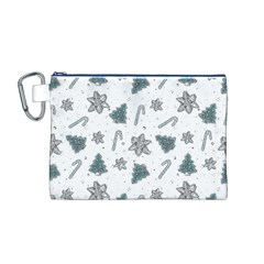 Ginger Cookies Christmas Pattern Canvas Cosmetic Bag (m)