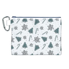 Ginger Cookies Christmas Pattern Canvas Cosmetic Bag (l)