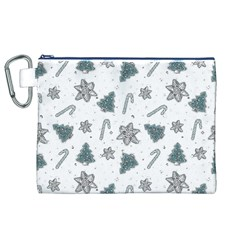 Ginger Cookies Christmas Pattern Canvas Cosmetic Bag (xl)