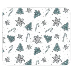 Ginger Cookies Christmas Pattern Double Sided Flano Blanket (small)