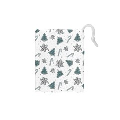 Ginger Cookies Christmas Pattern Drawstring Pouches (xs)