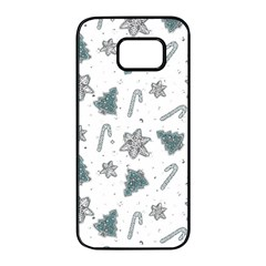 Ginger Cookies Christmas Pattern Samsung Galaxy S7 Edge Black Seamless Case