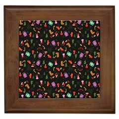 Christmas Pattern Framed Tiles
