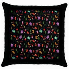 Christmas Pattern Throw Pillow Case (black)