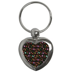 Christmas Pattern Key Chains (heart)