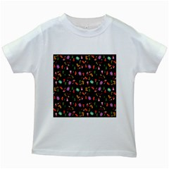 Christmas Pattern Kids White T Shirts