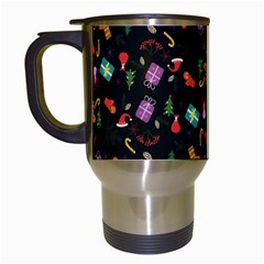 Christmas Pattern Travel Mugs (white)