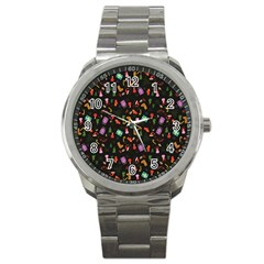Christmas Pattern Sport Metal Watch