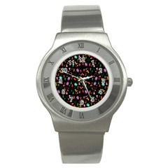 Christmas Pattern Stainless Steel Watch