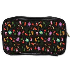 Christmas Pattern Toiletries Bags 2 Side