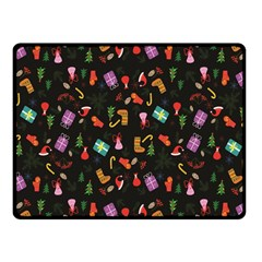 Christmas Pattern Fleece Blanket (small)