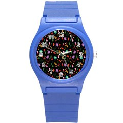Christmas Pattern Round Plastic Sport Watch (s)