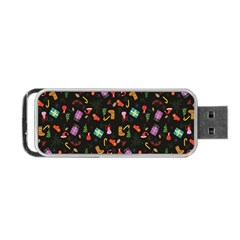 Christmas Pattern Portable Usb Flash (one Side)