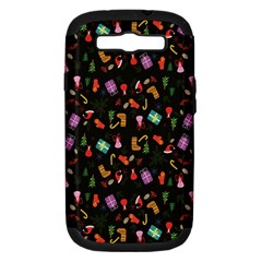 Christmas Pattern Samsung Galaxy S Iii Hardshell Case (pc+silicone)