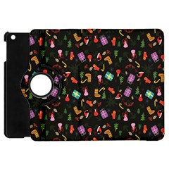 Christmas Pattern Apple Ipad Mini Flip 360 Case