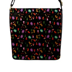 Christmas Pattern Flap Messenger Bag (l)