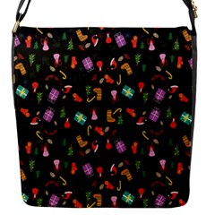 Christmas Pattern Flap Messenger Bag (s)