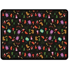 Christmas Pattern Double Sided Fleece Blanket (large)