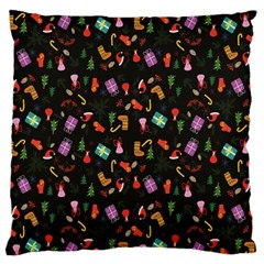 Christmas Pattern Large Flano Cushion Case (one Side)