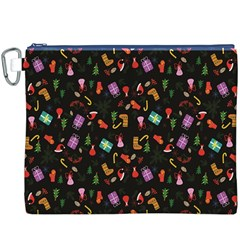 Christmas Pattern Canvas Cosmetic Bag (xxxl)
