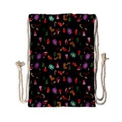 Christmas Pattern Drawstring Bag (small)
