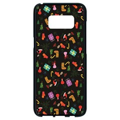 Christmas Pattern Samsung Galaxy S8 Black Seamless Case