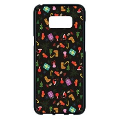 Christmas Pattern Samsung Galaxy S8 Plus Black Seamless Case