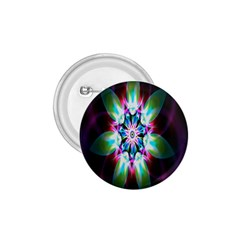 Colorful Fractal Flower Star Green Purple 1 75  Buttons