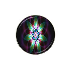 Colorful Fractal Flower Star Green Purple Hat Clip Ball Marker (10 Pack)