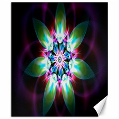 Colorful Fractal Flower Star Green Purple Canvas 8  X 10