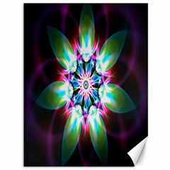 Colorful Fractal Flower Star Green Purple Canvas 36  X 48