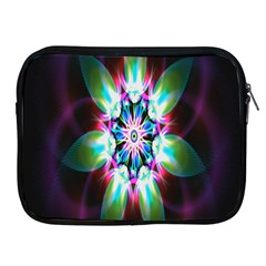 Colorful Fractal Flower Star Green Purple Apple Ipad 2/3/4 Zipper Cases