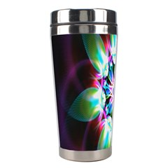 Colorful Fractal Flower Star Green Purple Stainless Steel Travel Tumblers