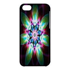 Colorful Fractal Flower Star Green Purple Apple Iphone 5c Hardshell Case