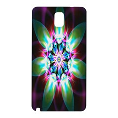 Colorful Fractal Flower Star Green Purple Samsung Galaxy Note 3 N9005 Hardshell Back Case