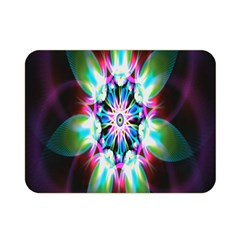 Colorful Fractal Flower Star Green Purple Double Sided Flano Blanket (mini)