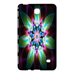 Colorful Fractal Flower Star Green Purple Samsung Galaxy Tab 4 (8 ) Hardshell Case