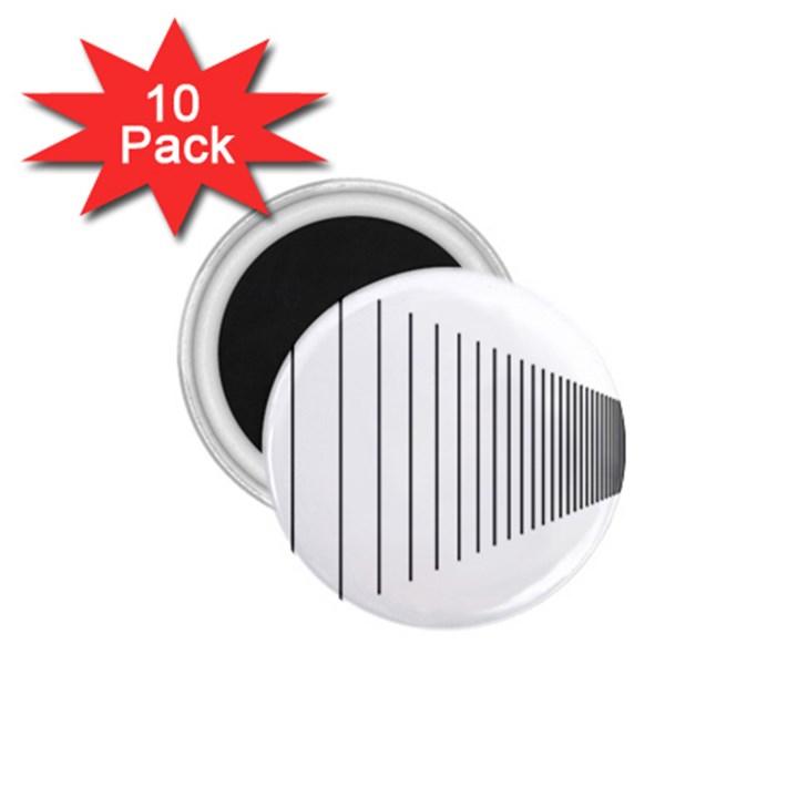 Fence Line Black 1.75  Magnets (10 pack)