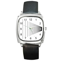 Fence Line Black Square Metal Watch