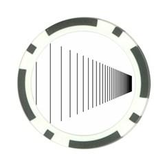 Fence Line Black Poker Chip Card Guard