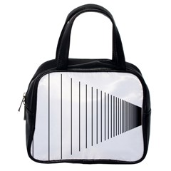 Fence Line Black Classic Handbags (one Side)