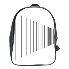 Fence Line Black School Bag (large)
