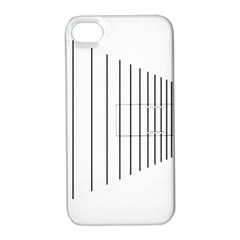 Fence Line Black Apple Iphone 4/4s Hardshell Case With Stand