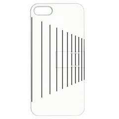 Fence Line Black Apple Iphone 5 Hardshell Case With Stand