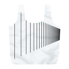 Fence Line Black Full Print Recycle Bags (l)