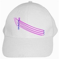Electricty Power Pole Blue Pink White Cap