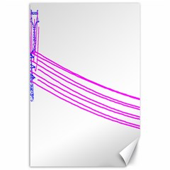 Electricty Power Pole Blue Pink Canvas 24  X 36