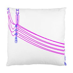 Electricty Power Pole Blue Pink Standard Cushion Case (two Sides)