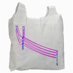 Electricty Power Pole Blue Pink Recycle Bag (two Side)